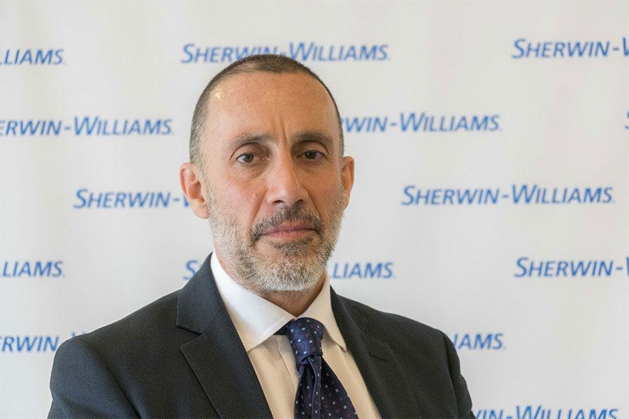 SHERWIN-WILLIAMS ITALY PRESENTA IL NUOVO SOUTH EUROPE SENIOR COMMERCIAL DIRECTOR